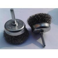 3 Inch Stem Mounted Stainless Steel Cup Brush / Crimped Cup Brush For Edge Blending
