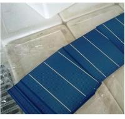 Quality 3.6w-4.3w polycrystalline solar cells 6x6 with efficiency 15.00%-17.80% for sale