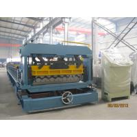 PLC Converter Roof Tile Roll Forming Machine For Factory Hotel Roof