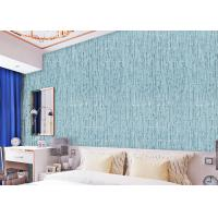 China Sky Blue Living Room Non Woven Wallpaper , Durable home interior wallpaper wholesale