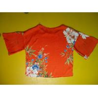 Wholesale Floral Printing Womens Loose Fitting Tops Flare Sleeves Round Neck 100 Silk Blouse from china suppliers