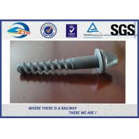 China Galvanized Surface Railway Sleeper Screws Speical Head 35# ISO Approval wholesale