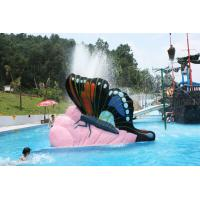 China Indoor Water Playground Equipment Kids Water Pool Slides Butterfly Fiberglass wholesale