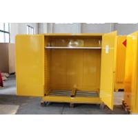 Wholesale 1.0mm galvanized Steel Horizontal Inflammable Flammable Storage Cabinet 2 Manual Close Doors Chemical Liquid from china suppliers