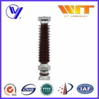 Wholesale 132KV 10KA Porcelain Substation Lightning Arrester with Extended Creepage from china suppliers