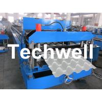 Roof Color Steel Tile Roll Forming Machine With Hydraulic Pressing For Metal Roof Tile