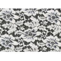 Wholesale White Flower Brushed Lace Stretchable , Rayon Nylon Spandex Fabric CY-LQ0003 from china suppliers