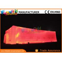 Wholesale Large Outdoor LED Inflatable Cube Tent for Wedding / Camping from china suppliers