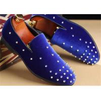 Wholesale Red Velvet Punk Style Rivet Loafer Slip On Shoes Lightweight For Spring , Summer from china suppliers