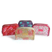Waterproof PVC Printed Zipper Cosmetic Bags , Tiny Toiletry Makeup Pouch Bag