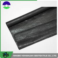 China 210g Black High Strength Circle Loom Polypropylene Woven Geotextile Filter Fabric wholesale