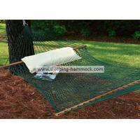 Patio Durable Polyester Rope Hammock , Hanging Camping Double Mesh Hammock Bed
