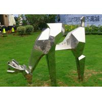 Wholesale Life Size Outdoor Metal Sculptures Animals Deer For Landscape Decoration from china suppliers