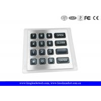 China 4x4 Matrix water resistant Backlit Metal Keypad with 11Pin Connector wholesale
