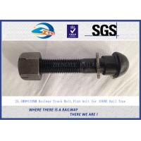 Wholesale 1'' * 130mm Railway Track Bolts , Fish Bolts With Plain Oiled Treatment from china suppliers