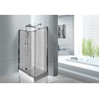 1200 x 800 x 2200 Rectangular Shower Cabins White ABS Tray Chrome Profiles