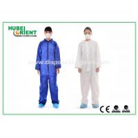 Protective Safety Blue Disposable Coveralls for Men , Eco Friendly Durable