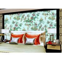 China Chinese Style beautiful bedroom wallpaper , Floral Birds Custom Removable wallpaper roll wholesale