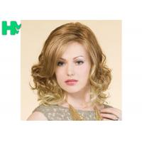 Wholesale Blond High Temperature Fiber Side Part Wave Synthetic Hair Wigs For Women from china suppliers