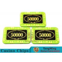Anti - Counterfeiting Crystal Poker Chips / Rectangular Poker Chips For Casino