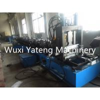 Wholesale PLC Control CZ Purlin Roll Forming Machine With Gcr15 Roller / Chain Drive from china suppliers