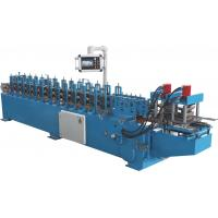 China PLC Automatic Control Door Frame Roll Forming Machine With Hydraulic Cutter wholesale