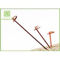 Wholesale Red Bamboo BBQ Sticks Knotted Bamboo Skewers For Fruit 70 / 80 / 105 / 120mm from china suppliers