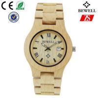 Wholesale Hign End Men Wooden Strap Watch Waterproof With Japan Battery , OEM ODM Service from china suppliers