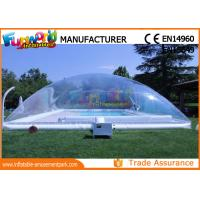 Wholesale PVC Transparent Inflatable Pool Cover Tent , Swimming Pool Cover Shelter from china suppliers
