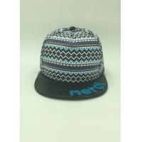 Wholesale Flat Brim Casual Leather Sports Snapback Caps For Men / Women Small Geometric Plaid from china suppliers
