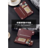 Iphone Leather Back Cover Wallet TPU Case , Brown Iphone6 Plus Leather Wallet Case