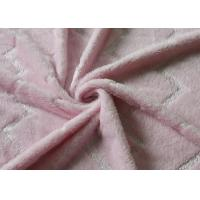 5mm Bright Silk Flannel Fleece Fabric Pink Color Skin Friendly