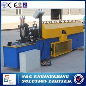 14 Roll Steps Steel Stud Roll Forming Machine 3 Kw Hydraulic Power