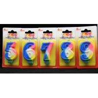 Wholesale Rainbow Color 0-9 Number Birthday Candles Handmade from china suppliers