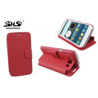 Wholesale Red Mobile Phone Protection Case Anti - throw i8552 Galaxy Phone Wallet Cover from china suppliers