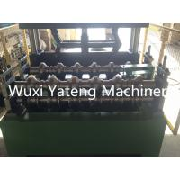 China Trapezoid Roofing Sheet Bending Machine , Two Stands Feeding Rollers Precision Metal Roofing Roll Former Machine wholesale