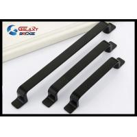 Wholesale Matte Black Kitchen Cabinet Handles And Knobs / Simple Modern Square Zinc Drawer Knobs from china suppliers