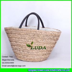 LUDA handmade straw handbag natural seagrass make straw bags