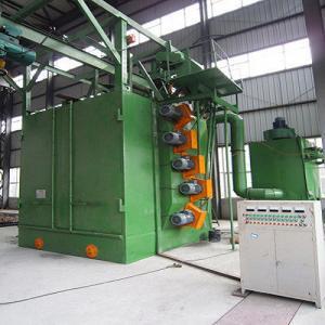 China Eco - Friendly Hanger Type Shot Blasting Machine For Sand Rust Grinding wholesale