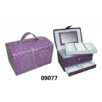 China Funky Waterproof Large Womens Toiletry Bag Luggage Cosmetic Case Purple Color wholesale