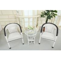 China Rattan Table Set white color wholesale