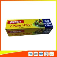 Soft Heat Resistant PE Cling Film , Cooking Biodegradable Cling Wrap