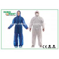 Wholesale Hooded Disposable Protective Coverall With Elastic Wrist / Ankle / Waist from china suppliers