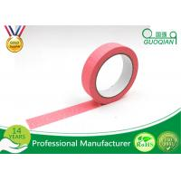 Wholesale Office Labeling Adhesive Stickers Easy Tear Decorative Craft Tape Pink / Purple / Red from china suppliers
