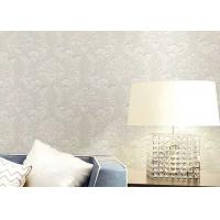 China Floral Wet Embossed Non - Woven European Style Wallpaper For Study Room wholesale