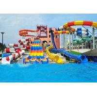 Customized Spiral Swimming Pool Water Slides Outdoor 12 Meter Platform