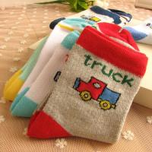 Custom design, logo, color cute Car Patter Baby soft Cotton Socks