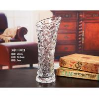 30cm Height Slim Waist Decorative Glass Vases Bevel Connection Canton Tower Shape