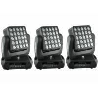 Top 1 Flat 25 x 12w High Lumen American CREE, RGBW Color Mixing  LED Moving Head Light / Square DJ Moving Head Lights