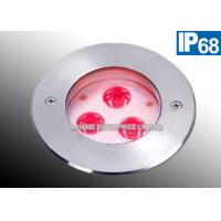 China Swimming Pool Underwater LED Lights 3 W Stainless Steel Anti Corrosion wholesale